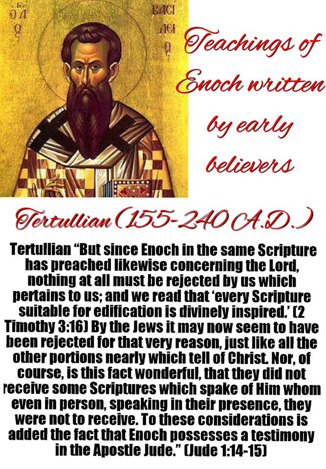 Tertullian Calls Enoch Scripture